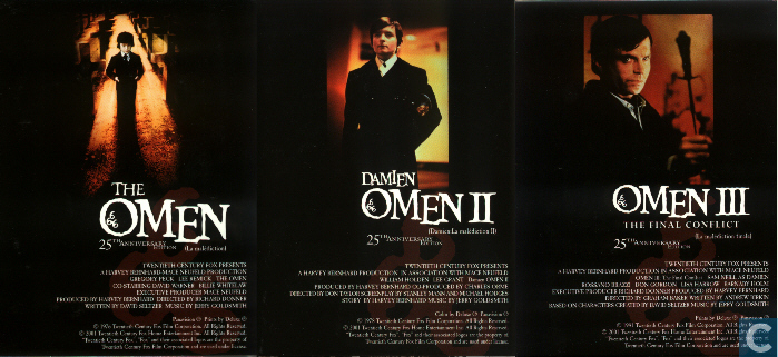DVDs: OMEN: trilogie 1, 2 et 3