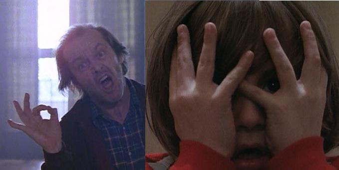 Jack Nicholson dans le film Shining