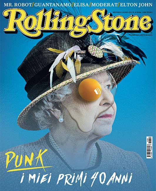 La Reine Elizabeth II en couverture du magazine Rolling Stone