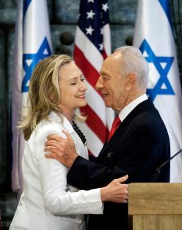 Hillary Clinton et Shimon Peres