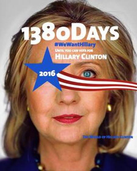 Compte à rebours de 1380 jours pour la campagne d'Hillary Clinton
