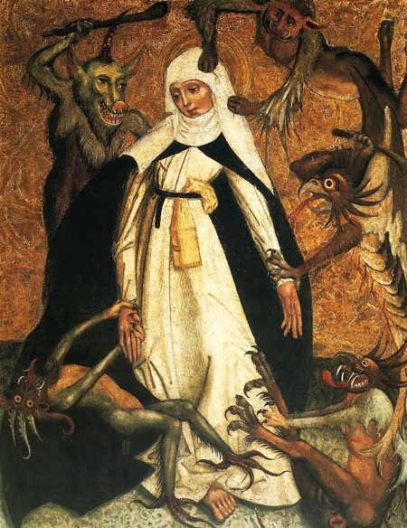 Sainte Catherine de Sienne assiégée par des démons
