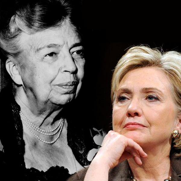 E. Roosevelt et Hillary Clinton