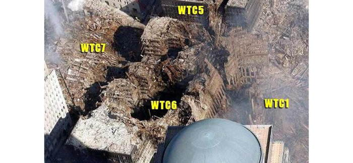 Vue aérienne du Ground Zero à New York suite aux attentats