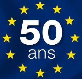 Drapeau UE 50e anniversaire