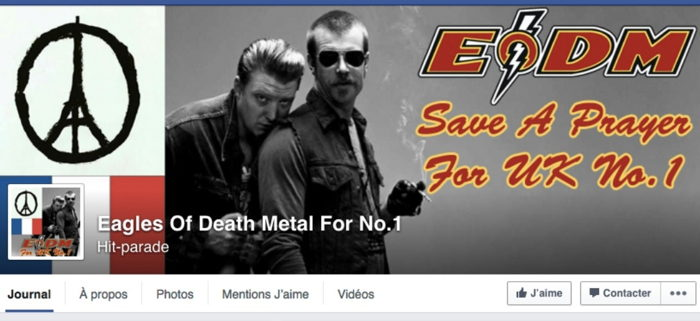 Mobilisation des eagles of death metal/Tuerie du Bataclan