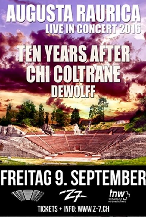 Concert: Ten Years after/Chi Coltrane le Vendredi 9 Septembre 2016