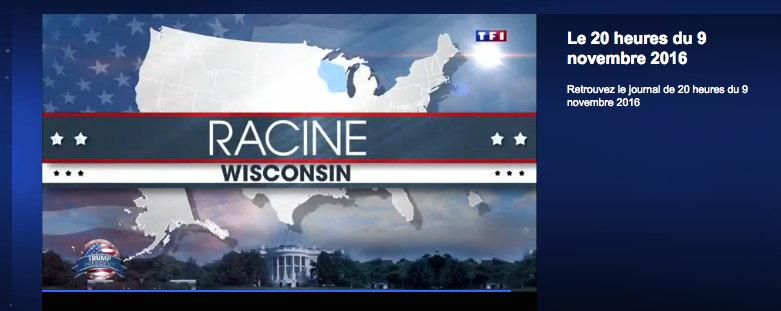Capture d'écran JT du 20H de TF1 le 9/11/2016
