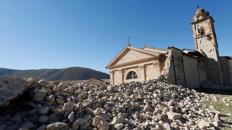 Etat de la basilique Saint Benoît (San Benedetto) à Norcia après le séisme