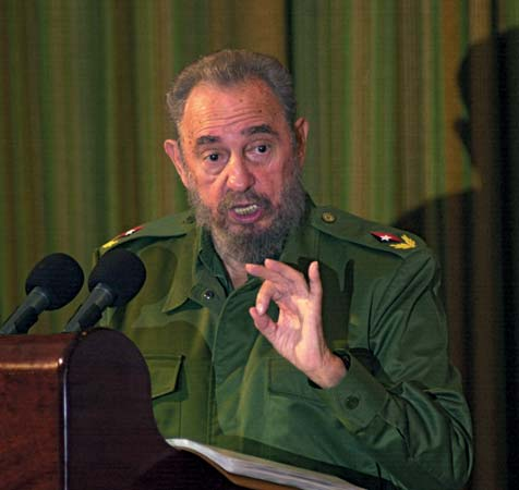 Fidel Castro flashant le 666 digital
