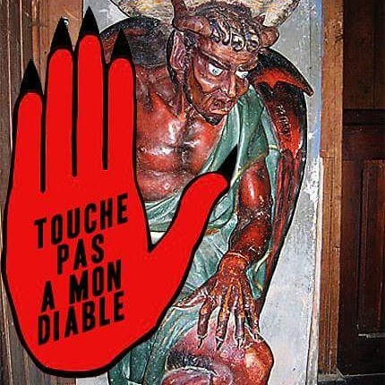 "Photo-montage ""Touche pas à mon Diable"""