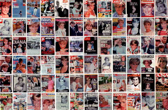 Couvertures de magazines dédiées à Lady Diana
