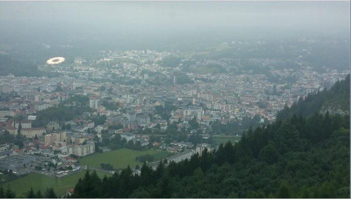 Photo prise depuis le funiculaire du Pic-du-Jer — Lourdes