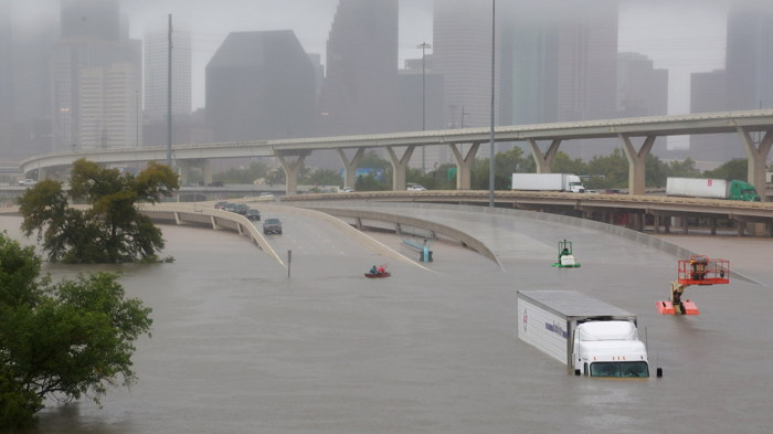 Inondations à Houston après le passage de l'ouragan Harvey