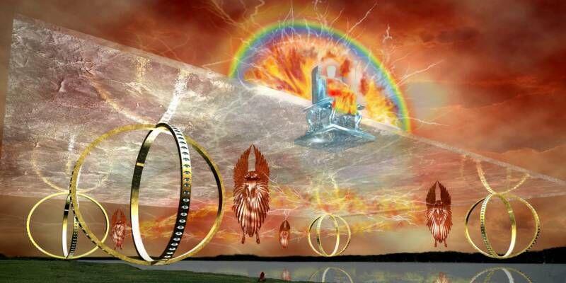 Essai de représentation de la vision d'Ezechiel