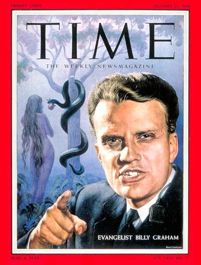 Couverture du Time: Billy Graham du 25 Oct. 1954