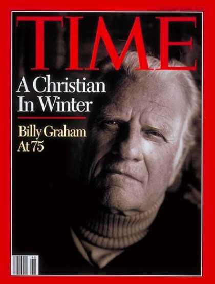Un chrétien en hiver  Couverture du Time: Billy Graham