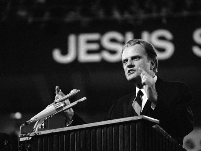 Billy Graham à Dortmund en 1970 en Allemagne