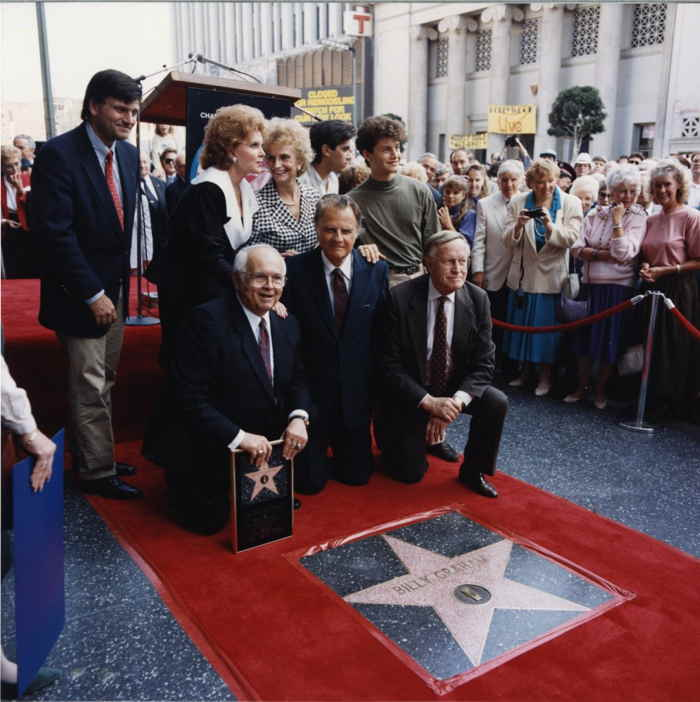 15 Octobre 1989 – Billy Graham et son étoile sur le Hollywood Blvd.