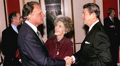 Billy Graham et le couple Reagan