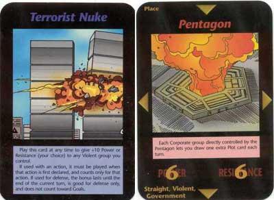 Attentats du 11 Septembre 2001  Jeu de cartes INWO de S. Jackson