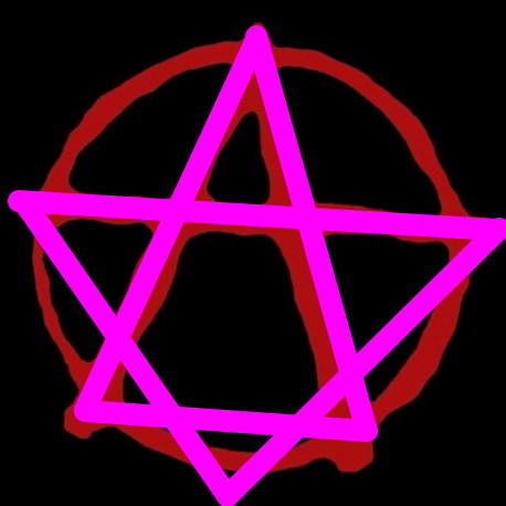 "le ""A"" des Anarchistes version hexagramme"