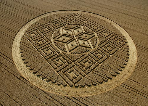 Crop circle à Woolstone Hill