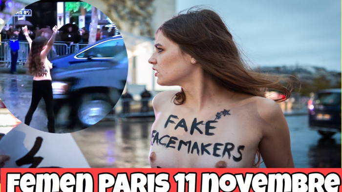 Femen à Paris le 11/11/2018