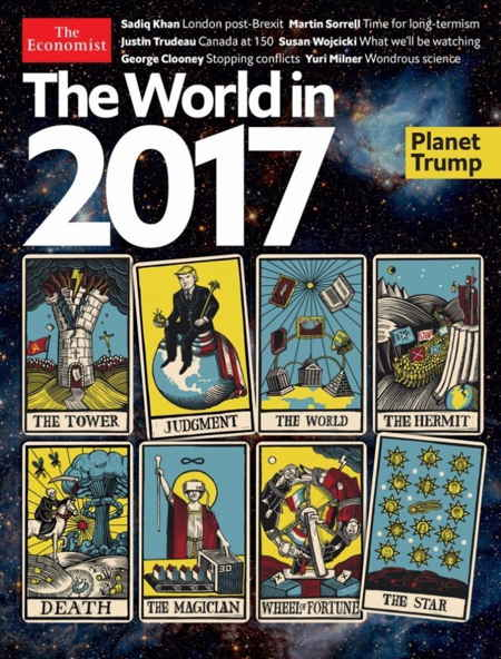 "Le monde en 2017: couverture de ""The Economist"""