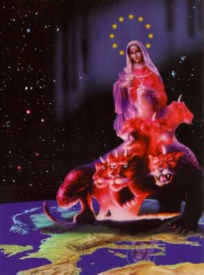 Texte de  l'Apocalypse de Jean avec images actuelles Bete_europe