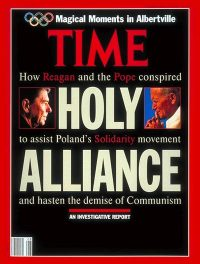 Time magazine pape Jean-Paul II et R reagan