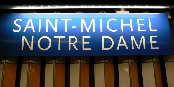 Metr/RER St Michel/Notre Dame