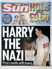 Harry en nazi sur le Sun