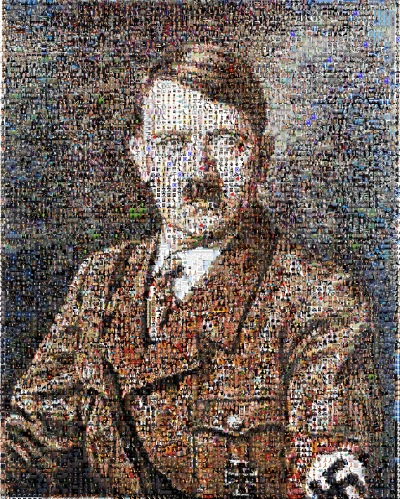 Portrait d'Hitler par photo montage