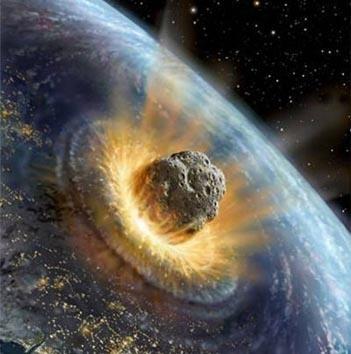 Texte de  l'Apocalypse de Jean avec images actuelles Meteorite2