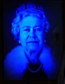 Hologramme Reine Elizabeth II