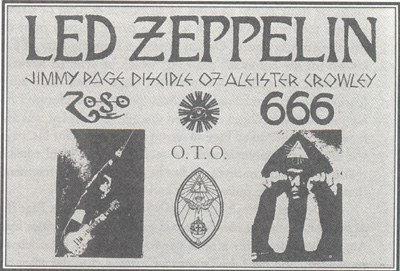 Jimmy Page disciple d'Aleister Crowley