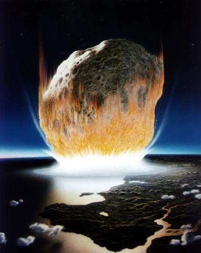 Texte de  l'Apocalypse de Jean avec images actuelles Meteorite_s