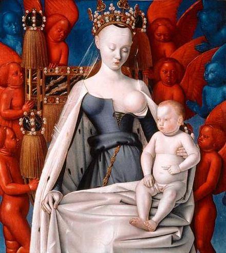 """""""la vierge et l'enfant entourés d'anges"""""""