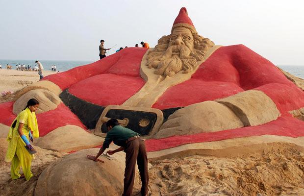 Santa Klaus de sable