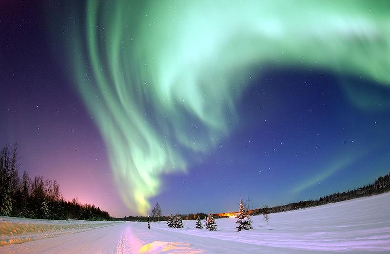 Aurore Boréale au-dessus de la Finlande