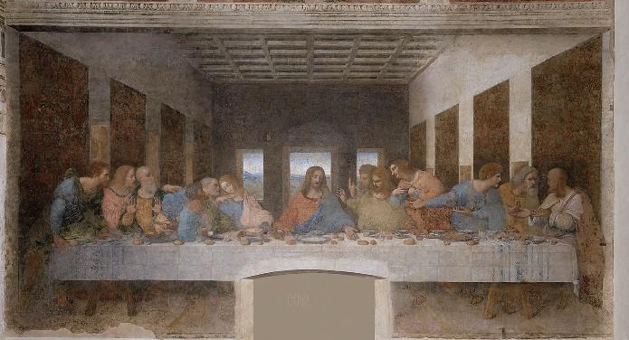 Tableau de la Cène par Léonard de Vinci