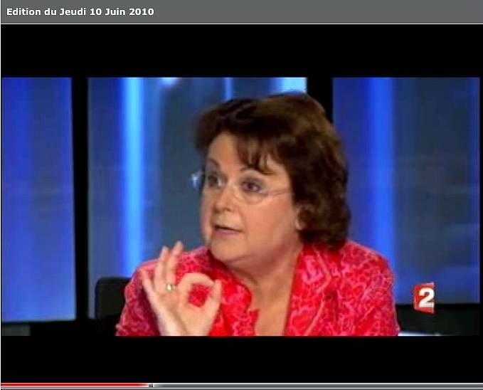 Capture d'écran France 2 du 11 Juin 2010
