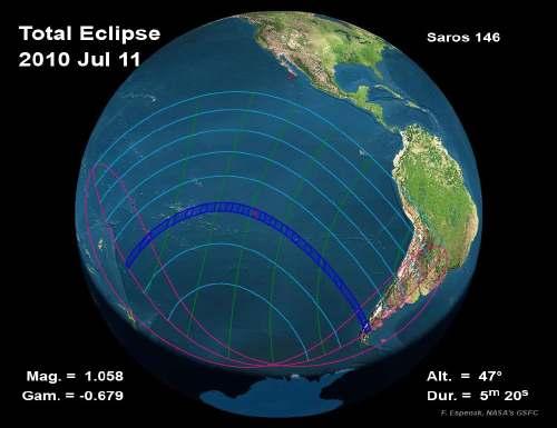 éclipse de soleil totale au matin du 11 Juillet 2010