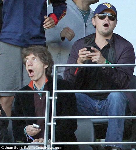 Mick Jaeger et Leonardo Di Caprio