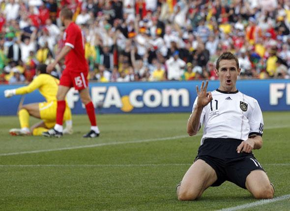 Miroslav Marian Klose jubilatoire