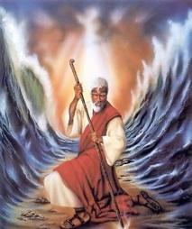 Moïse partageant les eaux de la mer rouge
