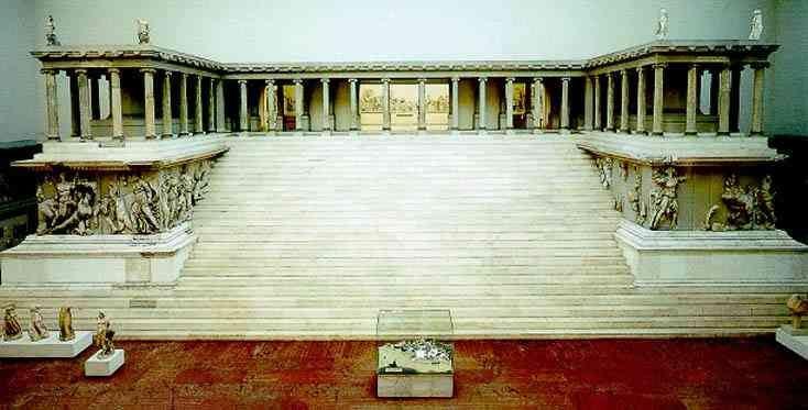 Temple de Zeus au musée Pergame à Berlin