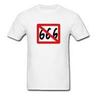 """T-shirt 666 barré"""