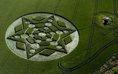 crop circle et étoiles